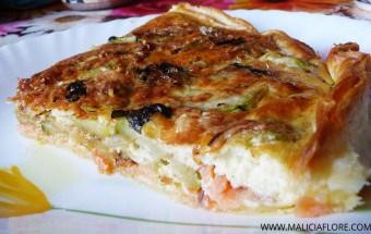 Quiche courgette au saumon