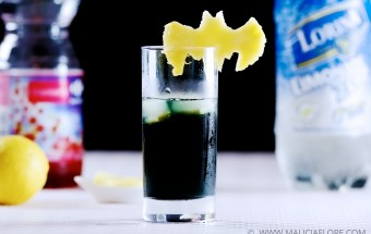 Un cocktail à base de vodka noir et limone, inspire de la trilogie Batman The Dark Knight de Christopher Nolan