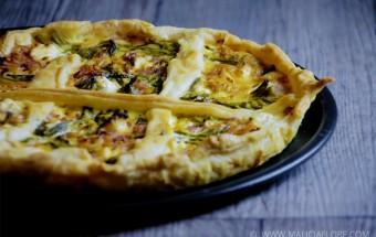 Recette quiche aux asperges vertes et jambon par Malicia Flore