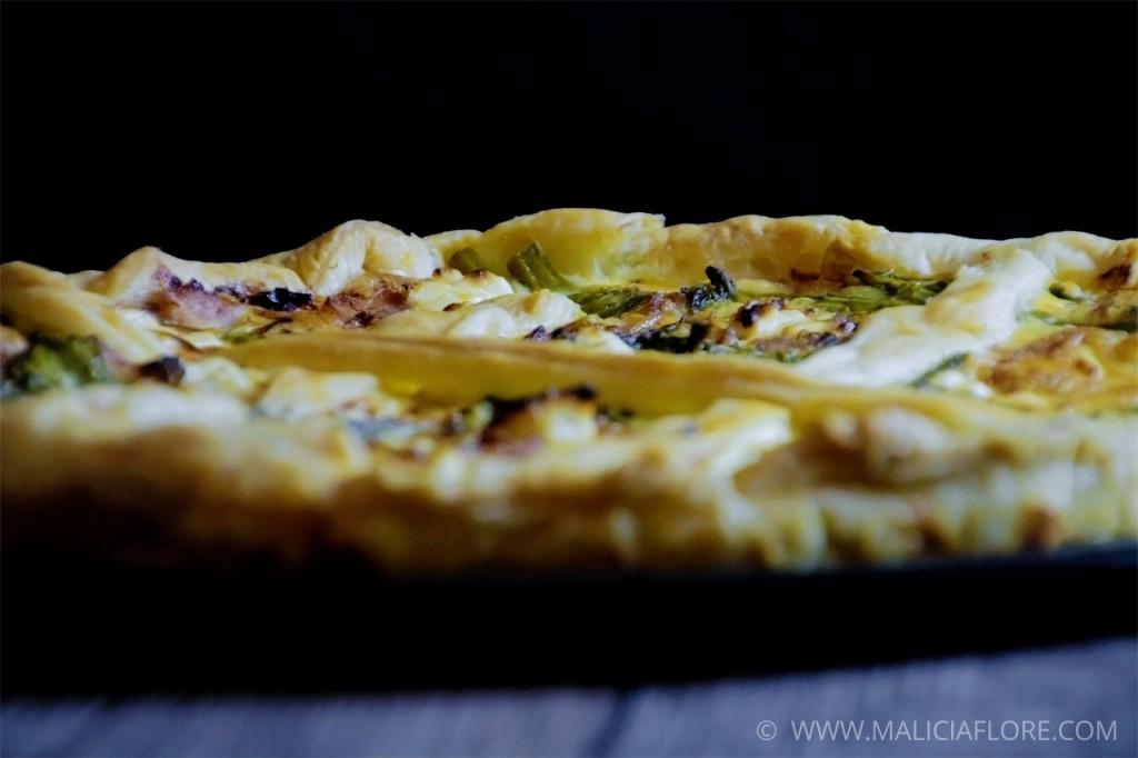 Recette quiche aux asperges vertes et jambon 2 par Malicia Flore