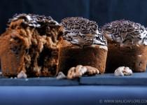 Muffins banane, noix de pécan et pépites de chocolat