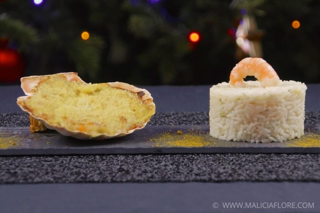 Coquille de poisson et riz pilaf par Malicia Flore