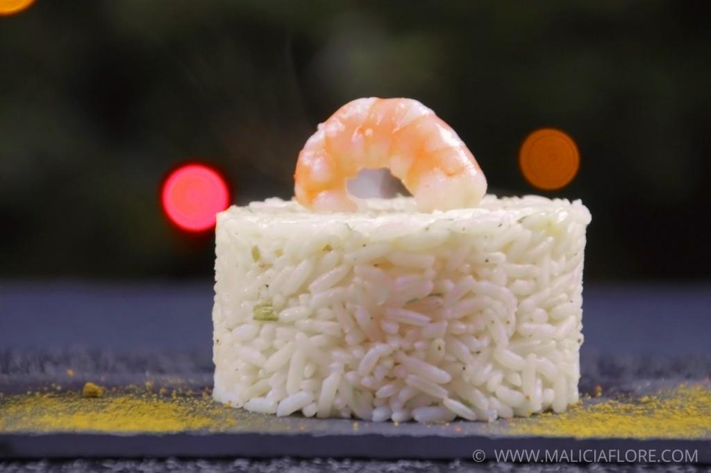 Coquille de poisson et riz pilaf