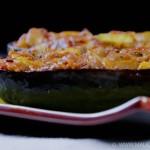 Aubergine farcie aux légumes