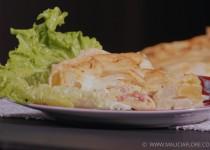 Quiche chou-fleur, lardons et mozzarella