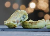 Tartelette artichaut, roquefort et jambon blanc {Prince de Bretagne}