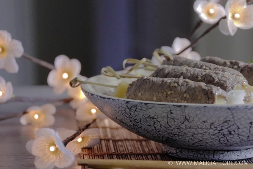Brochette de boeuf au fromage