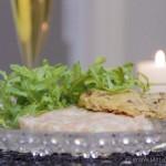 Tartare de saumon frais et son cracker au jambon cru