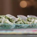 Cuillères apéritives aux épinards