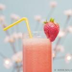 Cocktail vitaminé fraise - banane - orange sanguine