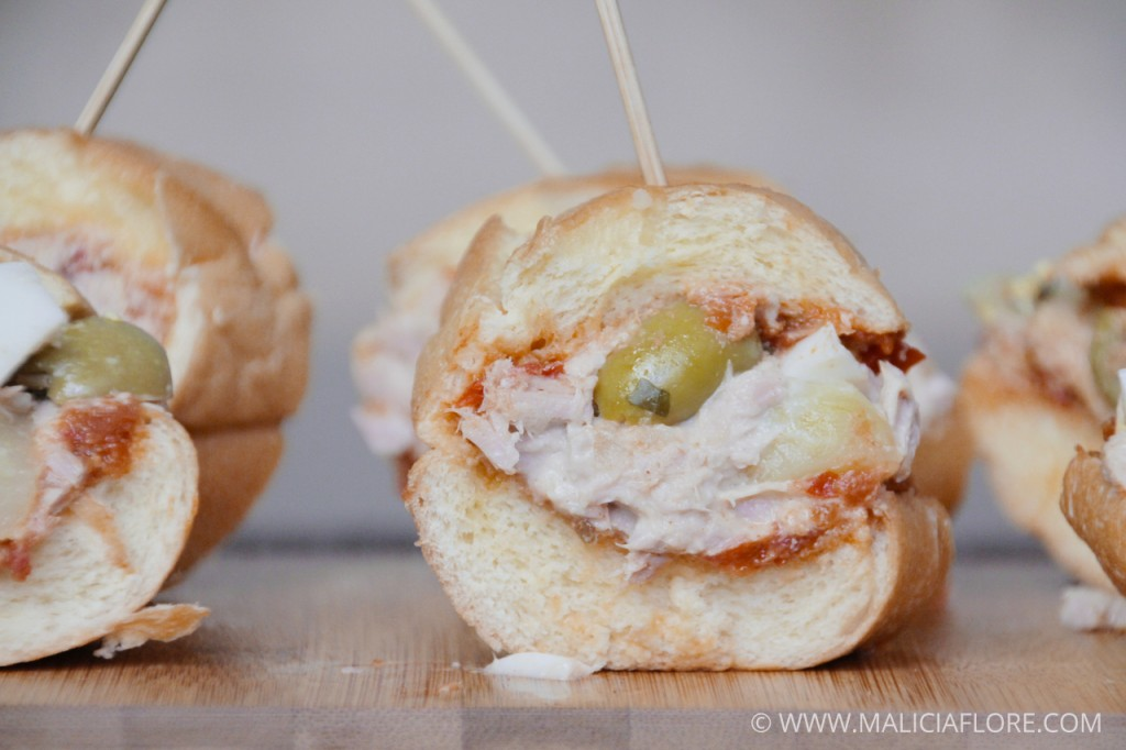 Mini sandwich viennois au thon